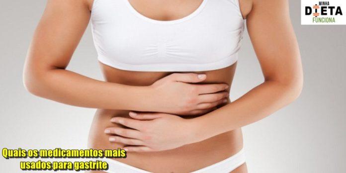 Quais os medicamentos mais usados para gastrite