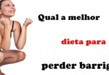Qual a melhor dieta para perder barriga