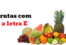 Frutas com a letra E